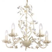Lullaby 5 Light Fitting in a Cream and Gold Finish - ENDON LULLABY-5CR